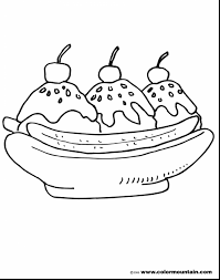 Small Picture fantastic banana split coloring sheet with ice cream coloring page