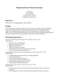 Resume Objective Examples Nursing