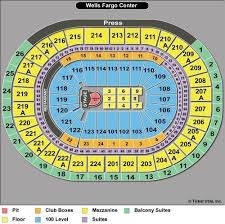 Wells Fargo Arena Seating Chart Wells Fargo Center Flyers Seating Chart With Seat Numbers