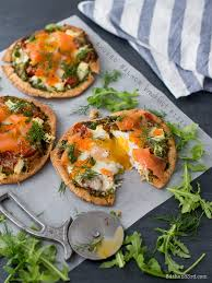 Sheet pan eggs with smoked salmon, cream cheese and dill. Smoked Salmon Breakfast Pizza 84th 3rd