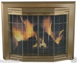 pleasant hearth glass fireplace door grandior bay antique brass small gr 7200