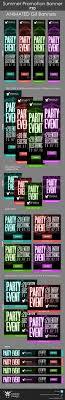 party promotion banners by maioriz on graphicriver include 6 diffes sizes and 4 diffes colors and include short psd animation sizes