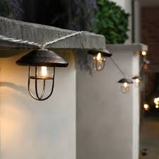 outdoor metal battery operated lantern lights 10 warm white leds
