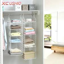 closet hanging rack folding wardrobe clothes underwear storage rack hooks home closet plastic storage shelves hanging