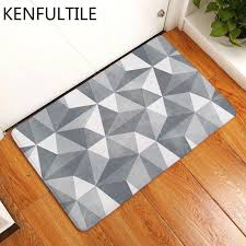 bath rug kitchen floor carpet bathroom anti slip doormat geometric plaid decorative door mat for best