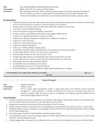 Gallery Of Resume Data Warehouse Architect Resume The Most