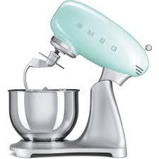Retro Kitchen Small Appliances Smeg Smf01pguk 50s Retro Style Stand Mixer In Pastel Green