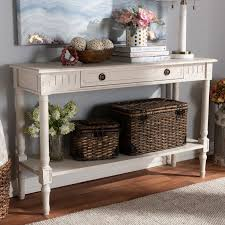 White washed furniture Farmhouse Table White Country Cottage Whitewashed 1drawer Console Table Ariella Rc Willey Furniture Store Deviantom Country Cottage Whitewashed 1drawer Console Table Ariella Rc