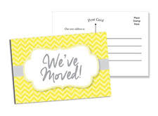 50 Moving Announcement Postcards Fill In Blank Change Of Address