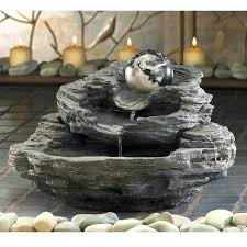 desk fountains spinning orb layered rock indoor small zen tabletop water fountain home decor desk water desk fountains desk water