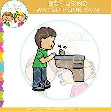 school water fountain clipart.  Fountain Boy Drinking From A Water Fountain Clip Art For School Clipart