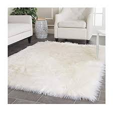 Bedroom rug Green Image Unavailable Amazoncom Amazoncom Elhouse Home Decor Square Rugs Faux Fur Sheepskin Area