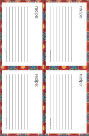how to print on 3x5 index cards recipe cards download free printable recipe card templates