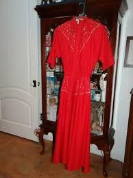 NWT Vintage Red Western dress with belt LILIA SMITH size 5/6 | eBay