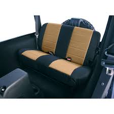 rugged ridge neoprene rear seat covers tan 03 06 jeep wrangler tj