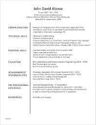 Resume Template For It Job Job Resume Objective Examples First Job