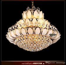 led crystal chandeliers lights fixture modern lotus flower chandelier golden pendant lamps home indoor lotus flower chandelier u84
