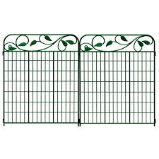metal fence panels home depot. Decoration:Metal Fence Panels Pretty Shop No Dig Green Steel Decorative Metal Panel At Home Depot F
