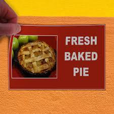 Amazoncom Decal Sticker Fresh Baked Pie Red Brown Restaurant