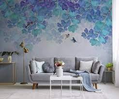 Wallpaper 3D Nature Blue Leaves Forest ...