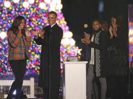 President Obama Christmas Tree Lighting President Obama Lights National Christmas Tree Kwit