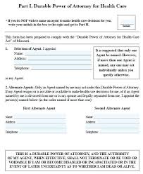 Durable Power Of Attorney Effective On Disability Form Print Free ...