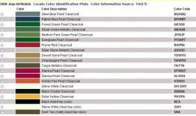 Cherokee Color Chart Is This A Factory Jeep Color Jeep Cherokee Forum