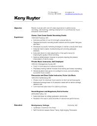 Music Teacher Resume Objective Examples Inspiration Music Teacher Resume Objective About Resume Sample for 5