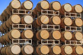 stacked oak wine barrels. Download Rows Of Stacked Oak Wine Barrels Stock Photo - Image Cabernet, Repetition: S