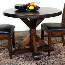 small round wood dining table solid oak round dining table with leaf kitchen carpet rustic with