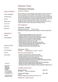 Warehouse manager resume, examples, job description, stock management,  distribution, career history