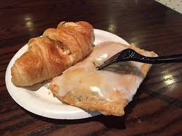 Croissant And Blueberry Hand Piewarmed Up Picture Of Corner