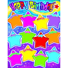 Star Chart By Birthday 33871 Happy Birthday Gumdrop Stars Learning Chart