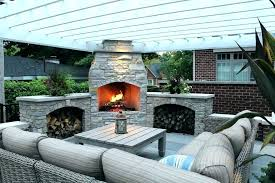 backyard fireplace ideas stone outdoor fireplaces pictures brick design