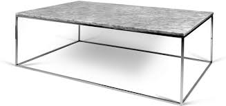 gleam rectangular marble coffee table chrome or matt black image 9