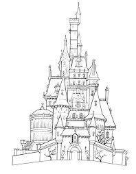 Coloring Page For The Kids Activity Book Belles Castle Disneyland