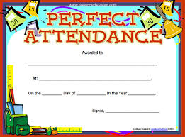 Free Printable Perfect Attendance Certificate Template Interesting 48 Attendance Certificate Templates DOC PDF PSD Free