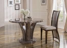amalfi luxury marble wood dining table pearl grey round 125cm