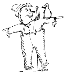 scarecrow clip art black and white. Scarecrow Clip Art Printable Free Clipart Images Image On Black And White