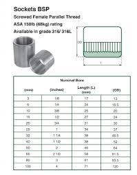 Stainless Steel Bsp Socket Bsp Weldable Sockets Online