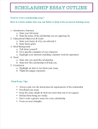 scholarship essay pdf format  sample scholarship essay outline