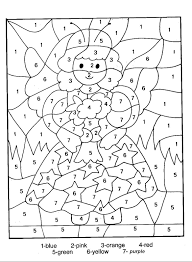 Small Picture Coloring by numbers 15 Educational Printable coloring pages