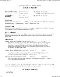 Sample Musician Resume Resume Music Resume For College Industry Samples Music