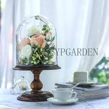 glass dome with base glass dome with wood base large pedestal clear cloche bell jar display