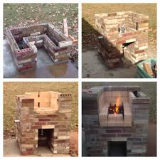 the building process of my brick forge