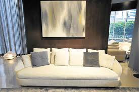 italian furniture brand. Sofa From The Jacques Collection Has Soft Rounded Shapes With A Light Bronze Metal Base. Italian Furniture Brand L