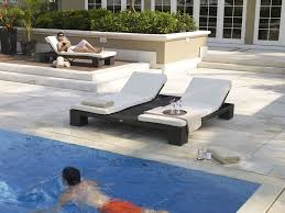 image of pool double chaise lounge outdoor furniture