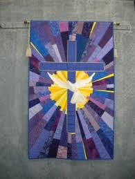 stained glass quilted church banners | Quilt Inspiration: Faith ... & Cross Quilt 003 Adamdwight.com