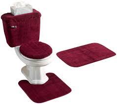 Bathroom Rugs Set 5 Piece Bath Rug Contour Lid Tank Lid Tank Cover Set Black