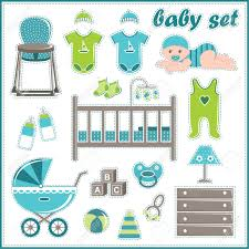 Baby Things Clipart Scrapbook Elements With Baby Boy Things Royalty Free Cliparts